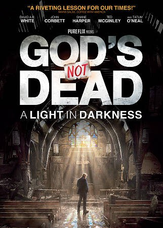 God's not dead. A light in darkness