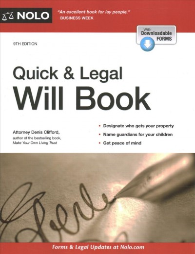 .Quick & Legal Will Book.