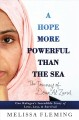 A hope more powerful than the sea [text(large print)]: one refugee