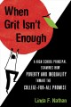When grit isn't enough : a high school principal examines how poverty and inequality thwart the college-for-all promise