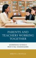 Parents and teachers working together addressing school's most vital stakeholders