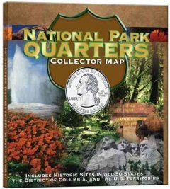National Park Quarters: Collector Map: Limted Mintage Foam Map