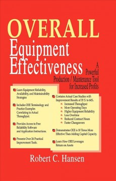 Overall Equipment Effectiveness:  A Powerful Production/ Maintenance Tool For Increased Profits