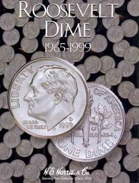 Whitman Roosevelt Dime Coin Folder: 1965-1999