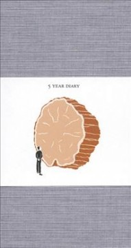 5-Year Diary: Blue Cover