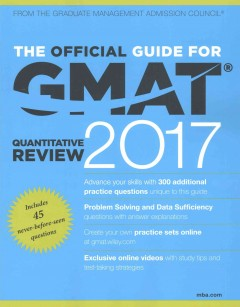Official Guide for GMAT Quantitative Review 2017, The
