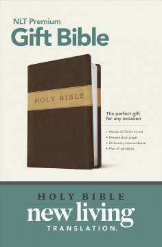Holy Bible: New Living Translation. Dark Brown/Tan, Tutone, LeatherLike, Gift and Award