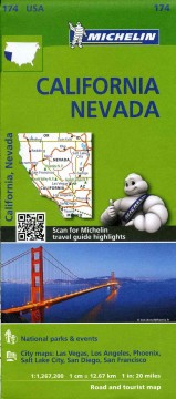 Michelin USA California, Nevada (Map 174)