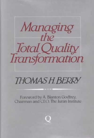 Managing the Total Quality Transformation cover