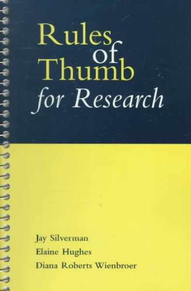 Rules of Thumb for Research
