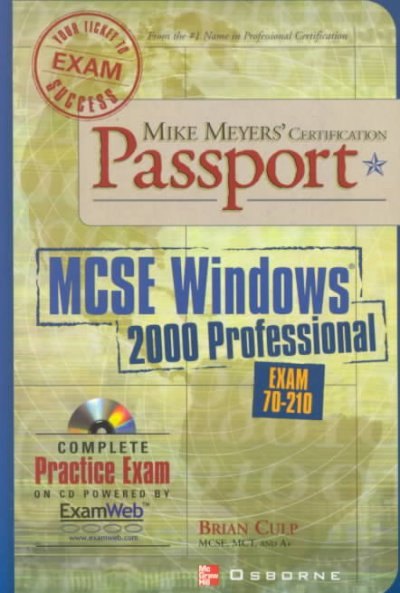 Mike Meyers' MCSE for Windows (R) 2000 Professional Certification Passport cover