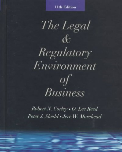 The Legal & Regulatory Environment of Business cover