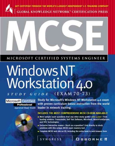 McSe Nt Workstation 4.0 Study Guide: (Exam 70-73) (Certification Study Guides) cover