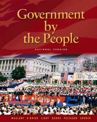 Government By the People - National Version (21st Edition) cover
