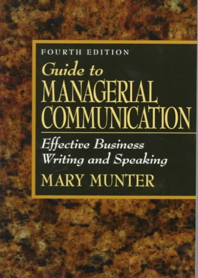 Guide to Managerial Communication: Effective Business Writing and Speaking cover