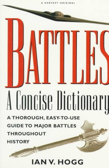 Battles:: A Concise Dictionary cover