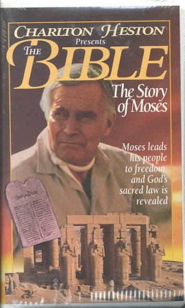 Charlton Heston: Bible Moses [VHS] cover