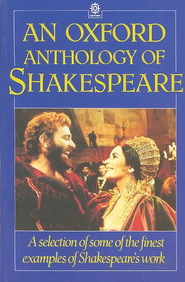 An Oxford Anthology of Shakespeare cover