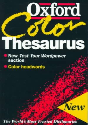 The Oxford Color Thesaurus cover