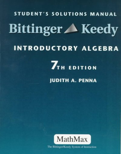 Introductory Algebra: Student's Solutions Manual cover
