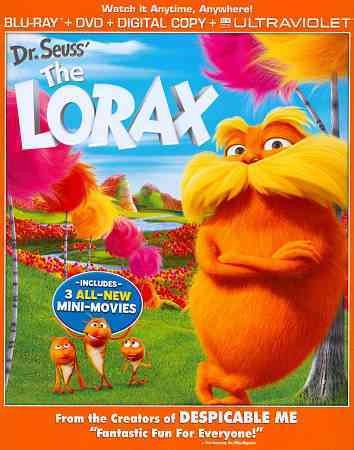 Dr. Seuss' The Lorax (Blu-ray + DVD) cover