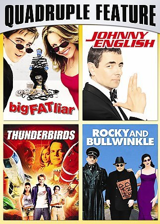 Family Fun Pack Quadruple Feature (Big Fat Liar / Johnny English / Thunderbirds / Rocky and Bullwinkle) cover