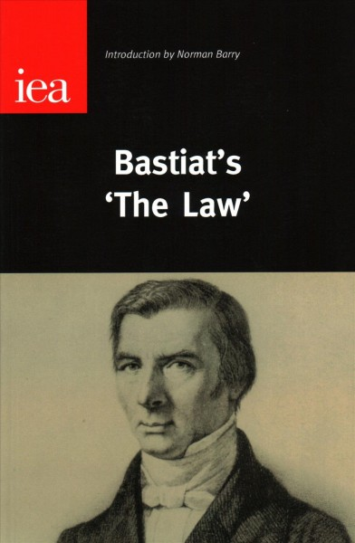 "Bastiat's ""The Law"" (Occasional Paper, 123) cover"