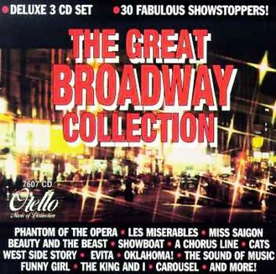 The Great Broadway Collection Deluxe 3 CD Set cover