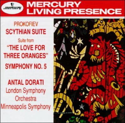 Prokofiev: Scythian Suite; Love for Three Oranges Suite; Symphony No. 5 cover
