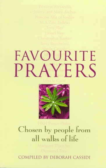 Favourite Prayers: Chosen by People from All Walks of Life cover