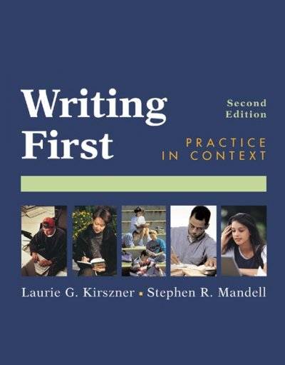Writing First: Practice in Context cover