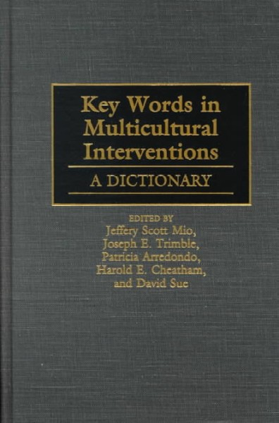 Key Words in Multicultural Interventions: A Dictionary cover