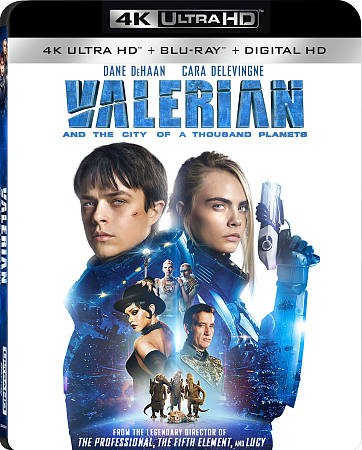 Valerian and the City of A Thousand Planets [4K Ultra HD + Blu-Ray] cover