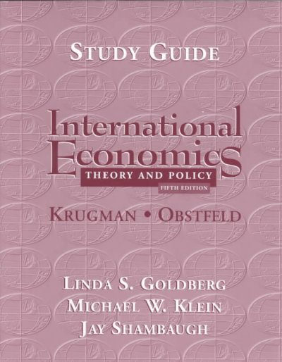 International Economics : Theory and Policy (Study Guide) cover