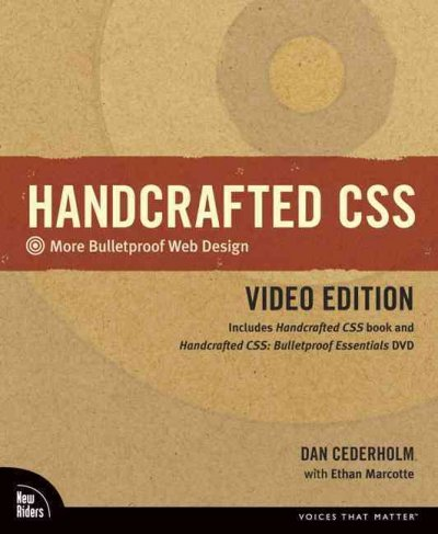 Handcrafted CSS: More Bulletproof Web Design: Video Edition cover