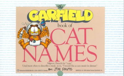 Garfield Book of Cat Names cover