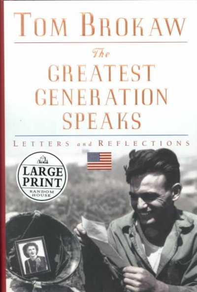 The Greatest Generation Speaks cover