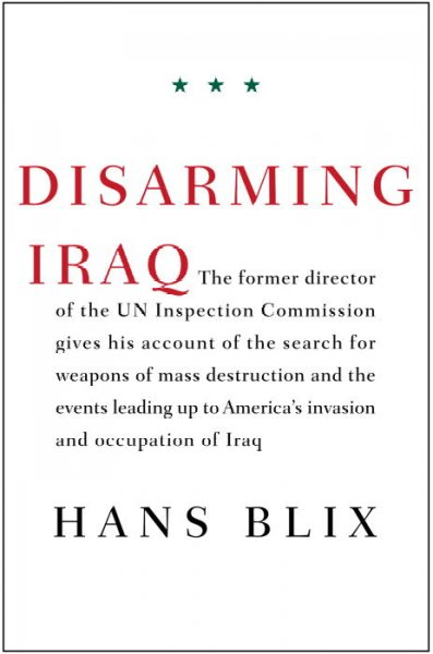 Disarming Iraq cover