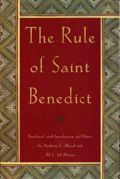 The Rule of St. Benedict (An Image Book Original) cover