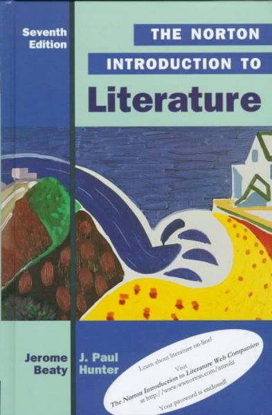 The Norton Introduction to Literature (Norton Introduction to Literature, 7th ed) cover