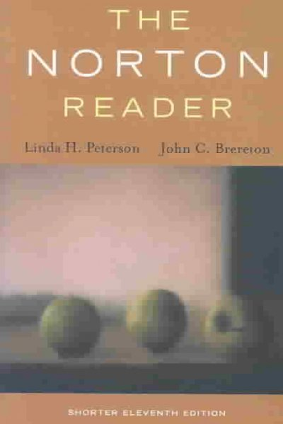 The Norton Reader: An Anthology of Nonfiction, Shorter Eleventh Edition cover