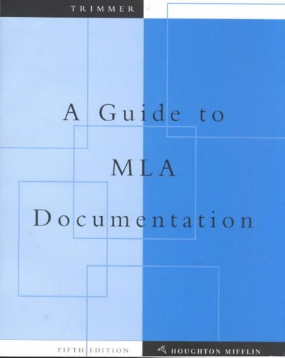 A Guide to MLA Documentation: With an Appendix on APA Style (English Essentials.)