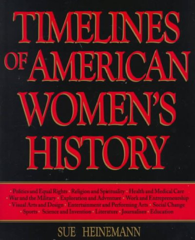 Timelines of American Women's History cover