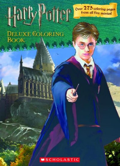 Harry Potter Deluxe Coloring Book (Harry Potter Movie Tie-In) cover