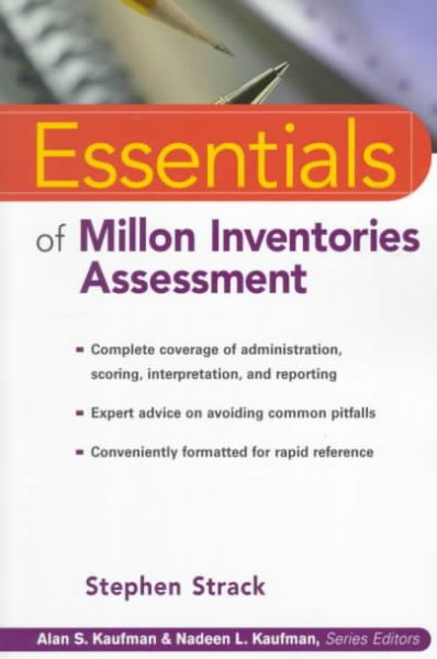 Essentials of Millon Inventories Assessment (Essentials of Psychological Assessment) cover