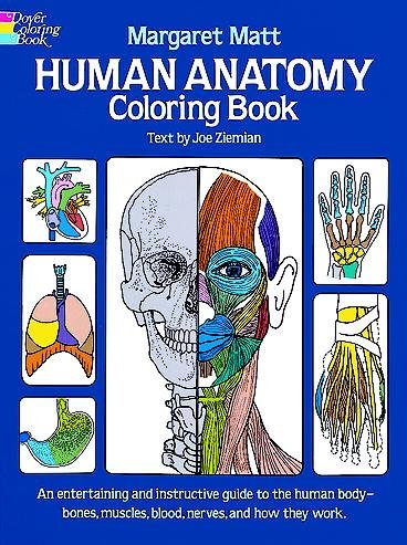Human Anatomy Coloring Book: an Entertaining and Instructive Guide to the Human Body - Bones, Muscles, Blood, Nerves and How They Work (Coloring Books) (Dover Children's Science Books) cover