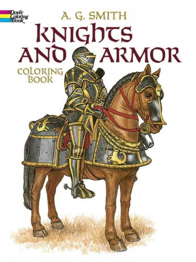 Knights and Armor Coloring Book (Dover Fashion Coloring Book) cover