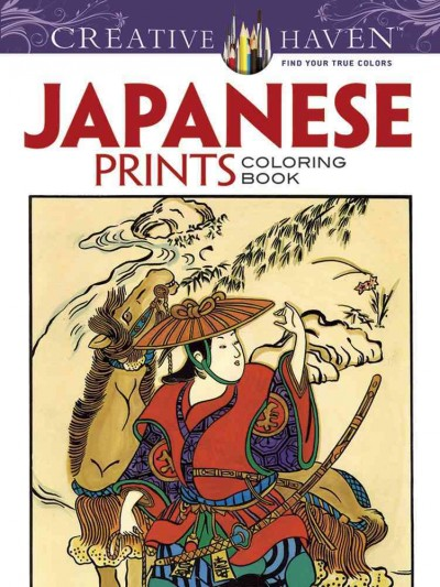 Creative Haven Japanese Prints Coloring Book (Creative Haven Coloring Books) cover