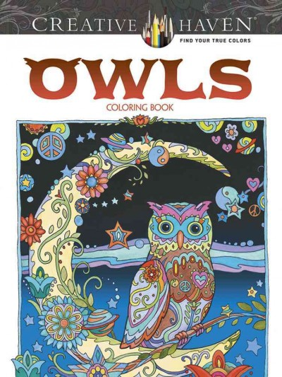 Creative Haven Owls Coloring Book (Adult Coloring) cover
