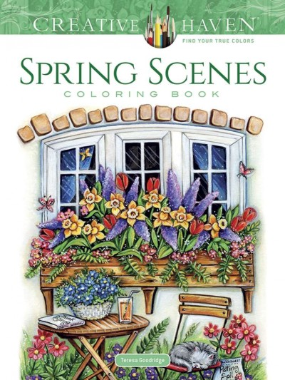 Creative Haven Spring Scenes Coloring Book (Creative Haven Coloring Books) cover